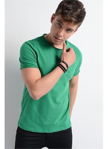 Rodi Jeans Erkek T-Shirt Fırçalı Süprem Bis.Yaka RD19YE279979 Yeşil